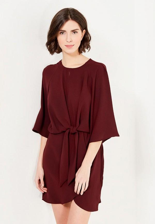 Купить Платье Topshop, TO029EWYWQ98, бордовый, Осень-зима 2017/2018