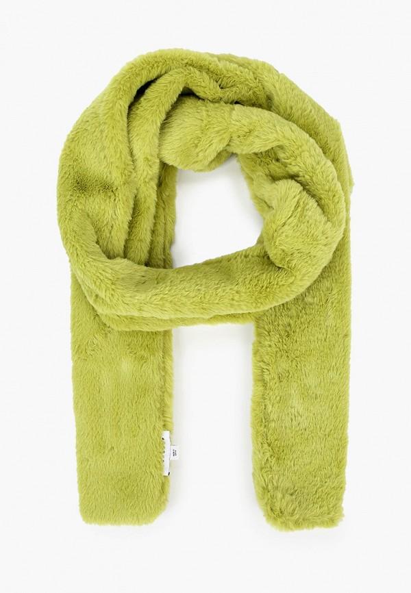 женский шарф topshop, зеленый