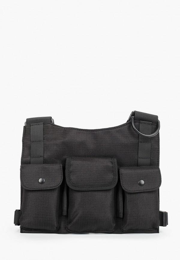 мужская сумка через плечо topman, черная