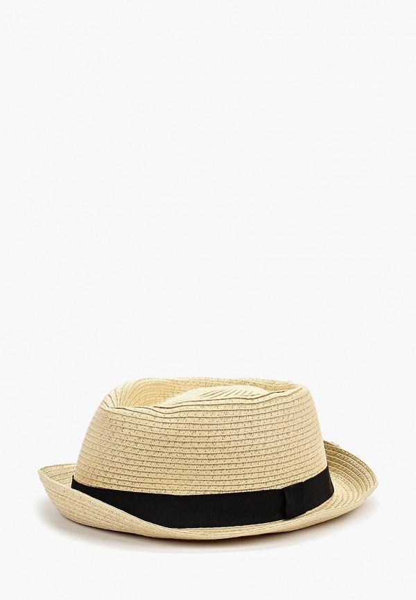 мужская шляпа topman, бежевая