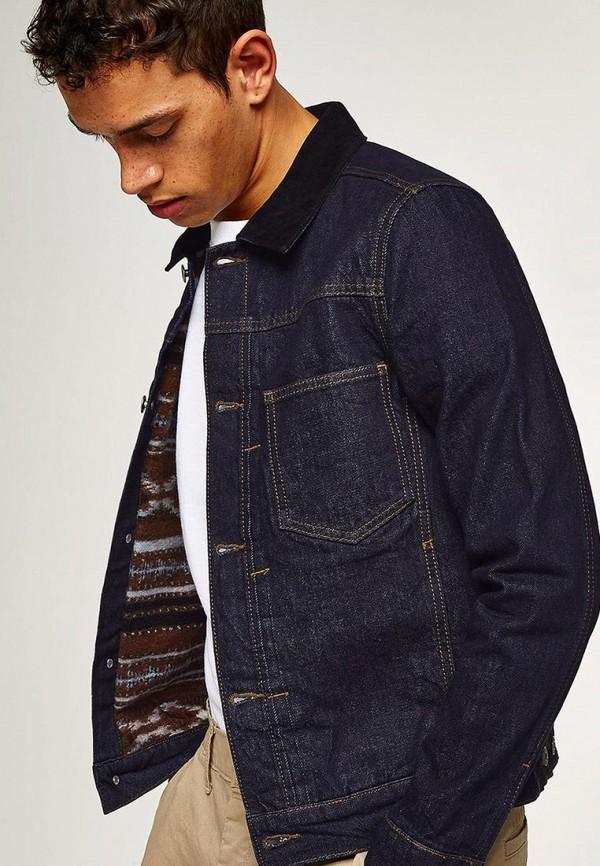 Куртка джинсовая Topman Topman TO030EMAWID4 рубашка джинсовая topman topman to030emubu58