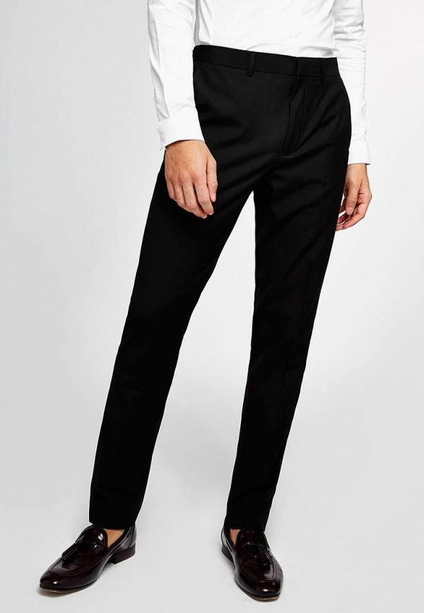 мужские зауженные брюки topman, черные