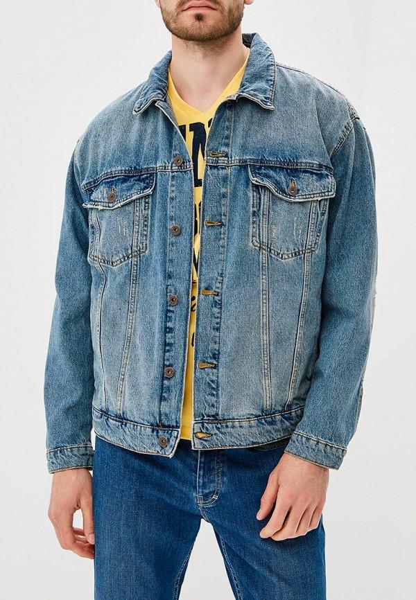 Куртка джинсовая Topman Topman TO030EMBSAQ5 рубашка джинсовая topman topman to030emubu58