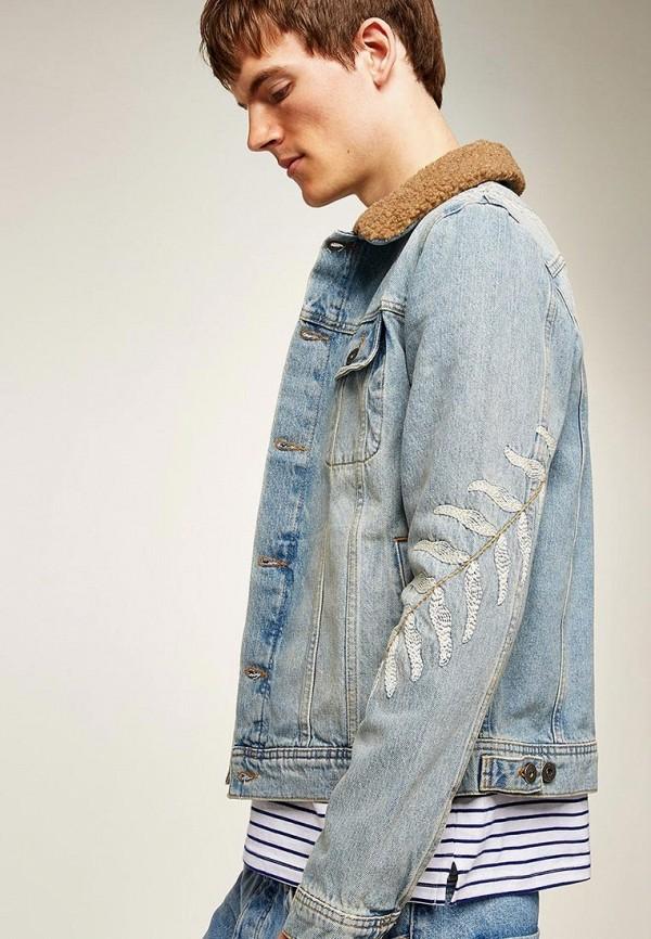 Куртка джинсовая Topman Topman TO030EMBZCT7 рубашка джинсовая topman topman to030emubu58