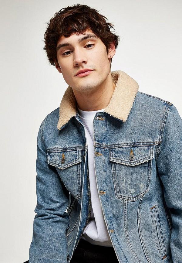 Куртка джинсовая Topman Topman TO030EMCFTF1 рубашка джинсовая topman topman to030emubu58