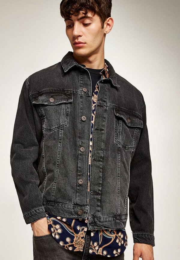 Куртка джинсовая Topman Topman TO030EMCIAB3 рубашка джинсовая topman topman to030emubu58
