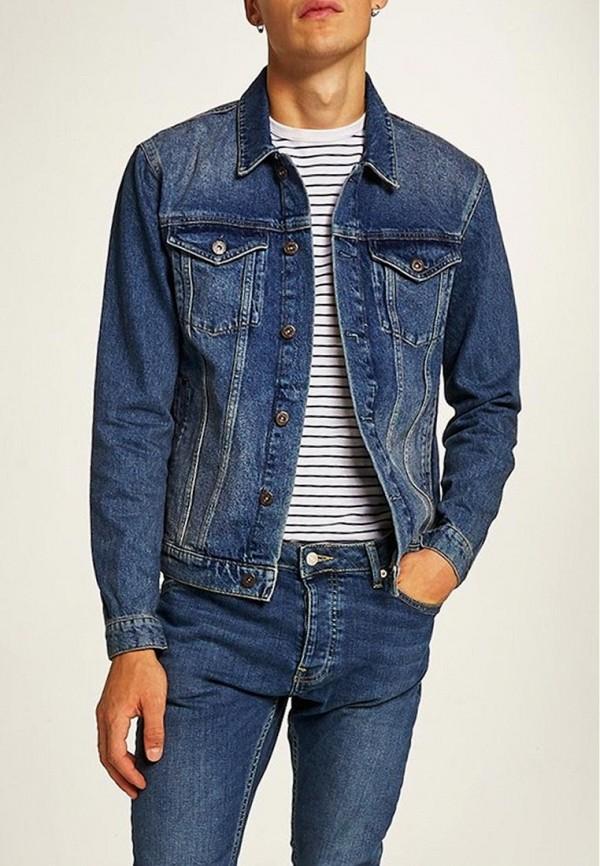 Куртка джинсовая Topman Topman TO030EMCIMQ3 рубашка джинсовая topman topman to030emubu58