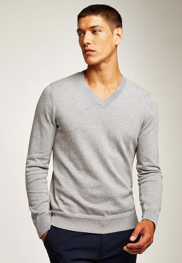 Пуловер Topman, TO030EMCINN0, серый, Осень-зима 2018/2019  - купить со скидкой