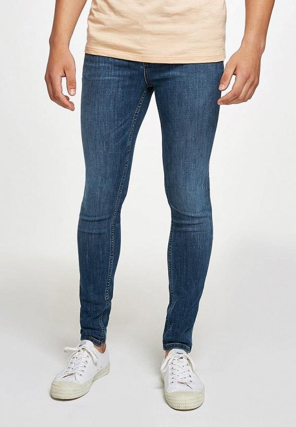 мужские зауженные джинсы topman, синие