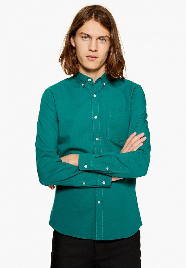 Рубашка Topman, to030emdipn8, зеленый, Осень-зима 2018/2019  - купить со скидкой