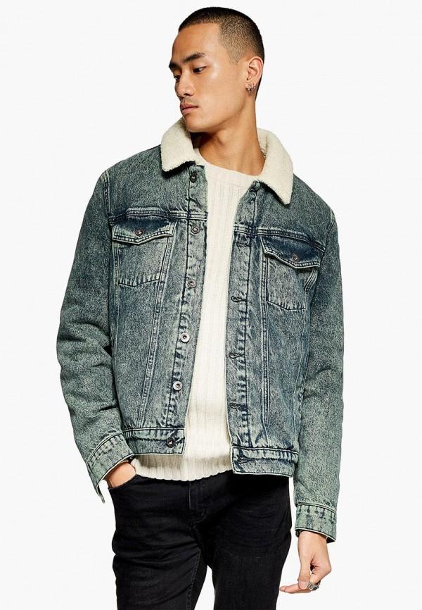 Купить Куртка джинсовая Topman, to030emdkha9, синий, Осень-зима 2018/2019