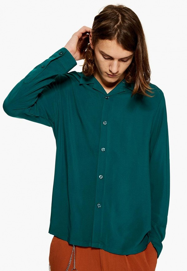 Купить Рубашка Topman, to030emdmmv5, бирюзовый, Осень-зима 2018/2019