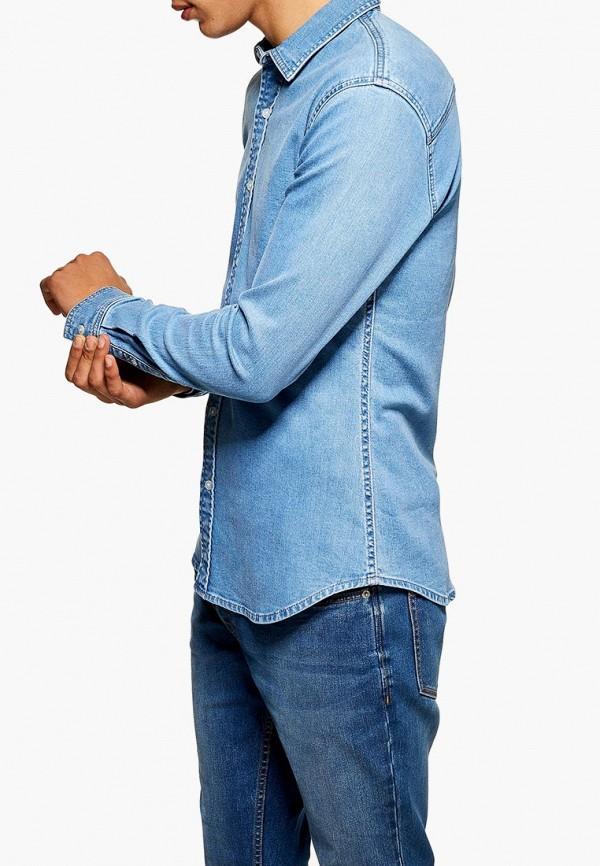 Рубашка джинсовая Topman Topman TO030EMDNGT8 рубашка джинсовая topman topman to030emubu58