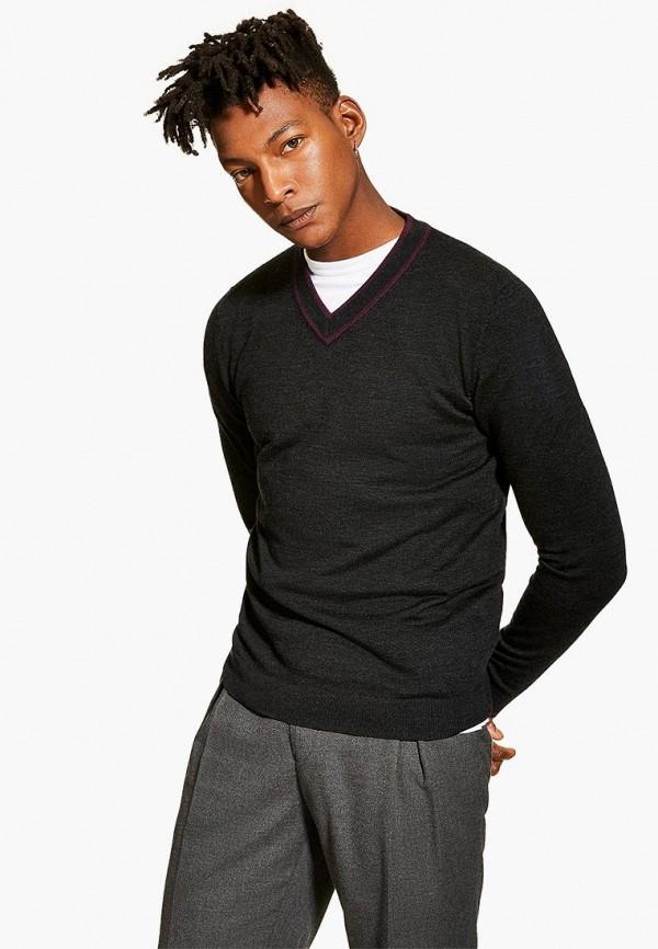 мужской пуловер topman, зеленый