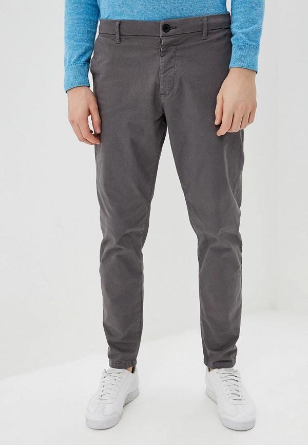 мужские зауженные брюки topman, серые