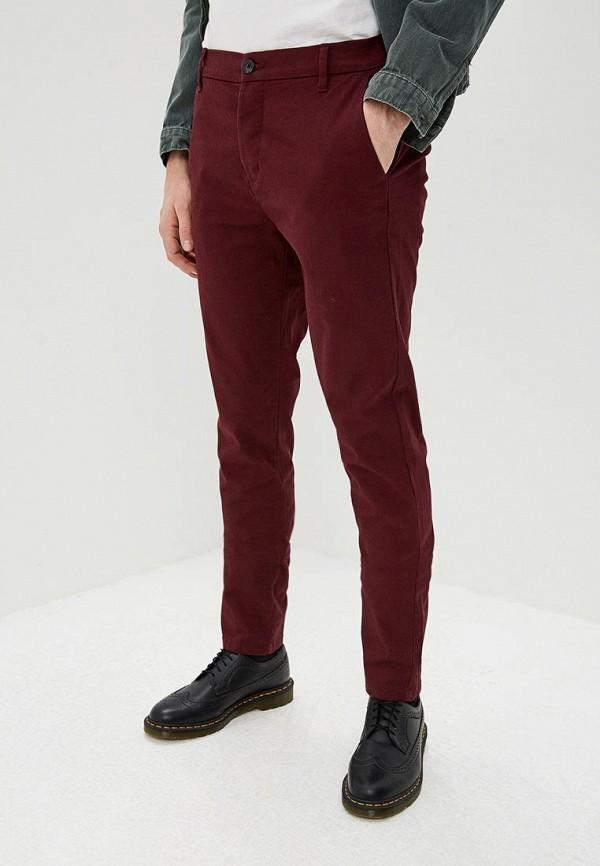 мужские повседневные брюки topman, бордовые