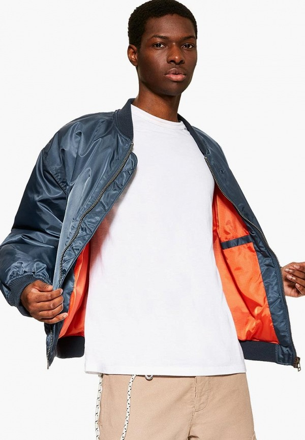 мужская куртка topman, синяя