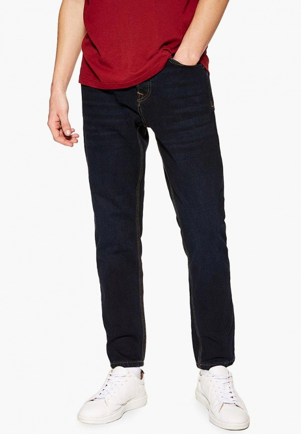 мужские прямые джинсы topman, синие