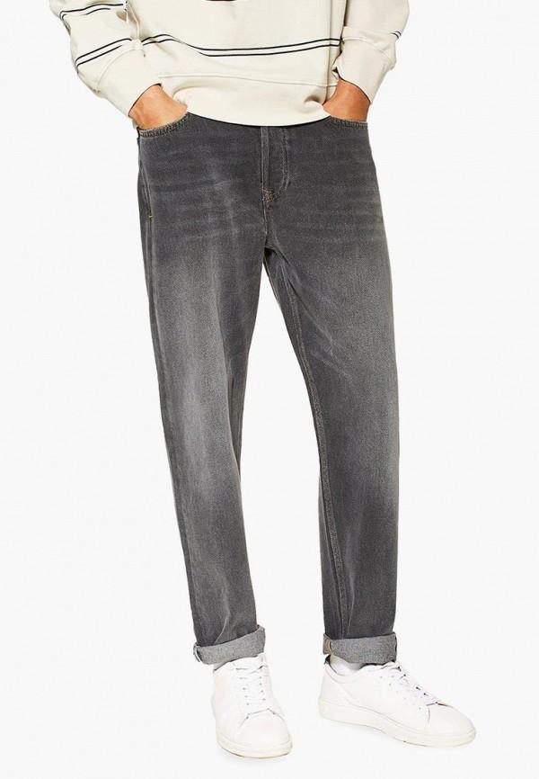 мужские прямые джинсы topman, серые