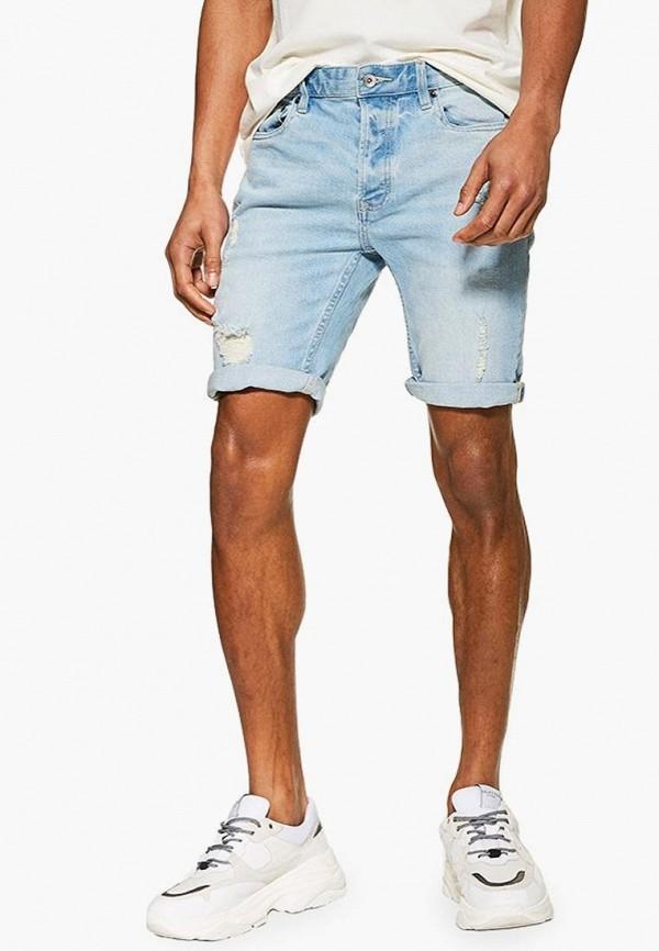 мужские шорты topman, голубые