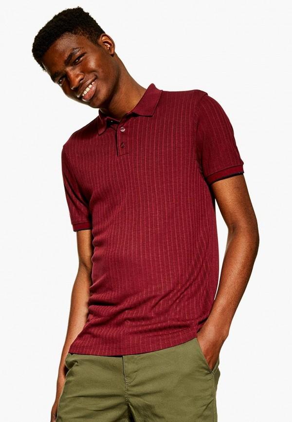Фото - мужское поло Topman бордового цвета