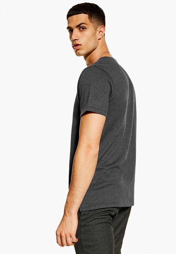 Фото 2 - мужскую футболку Topman серого цвета