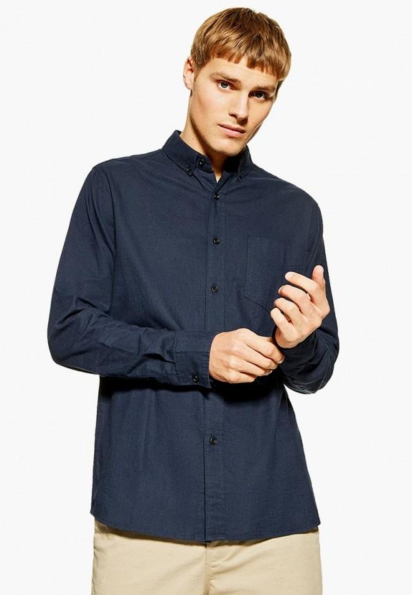 Купить мужскую рубашку Topman синего цвета