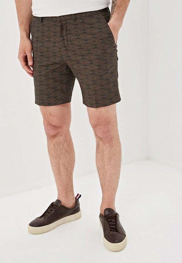 мужские повседневные шорты topman, коричневые