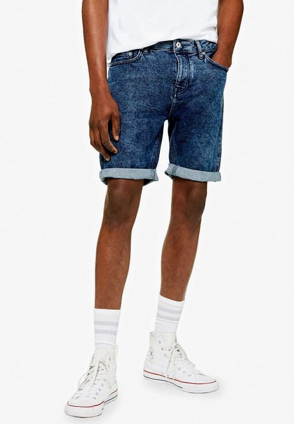 мужские джинсовые шорты topman, синие
