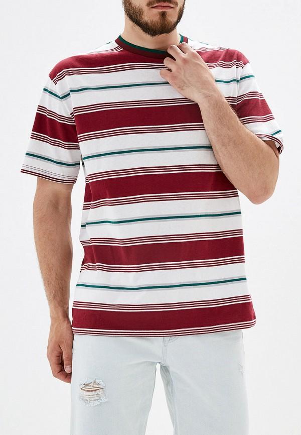 Купить мужскую футболку Topman бордового цвета