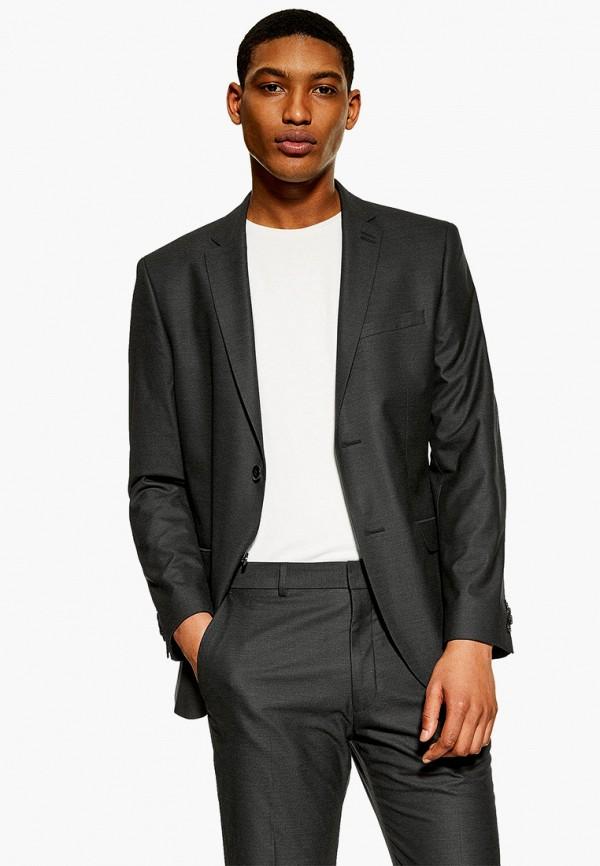 мужской пиджак topman, серый
