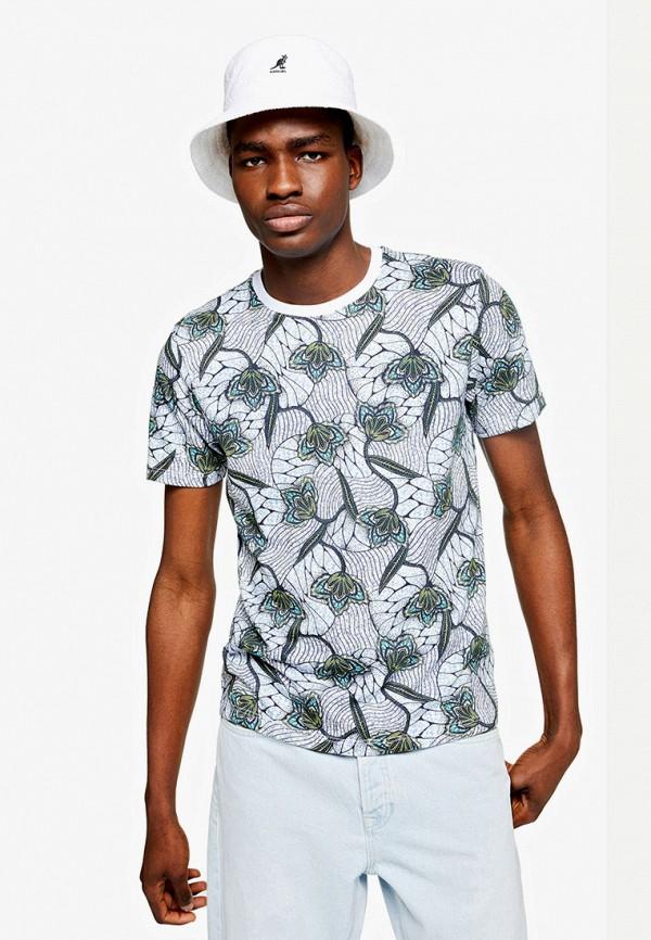 мужская футболка с коротким рукавом topman, серая