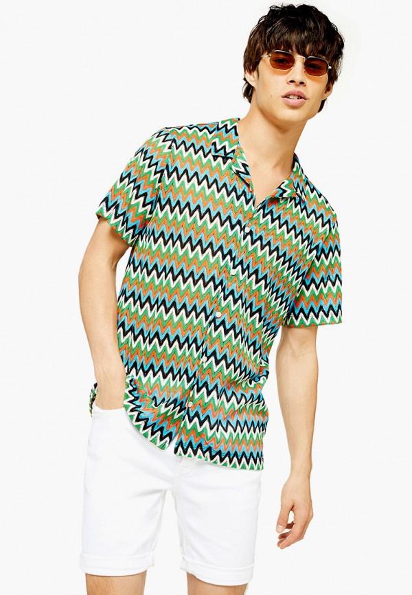 мужская рубашка с коротким рукавом topman, разноцветная