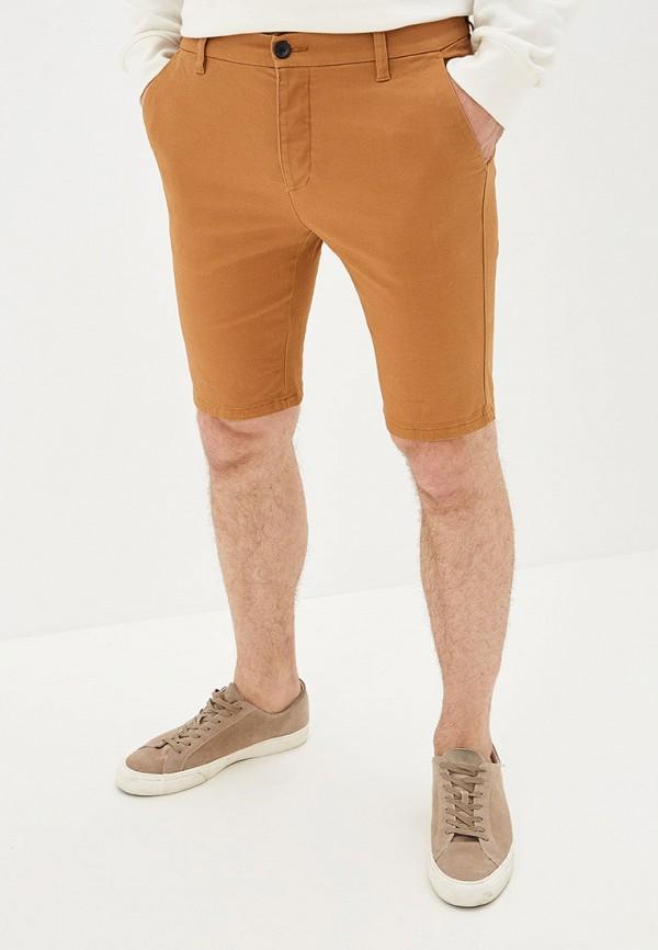 мужские шорты topman, коричневые