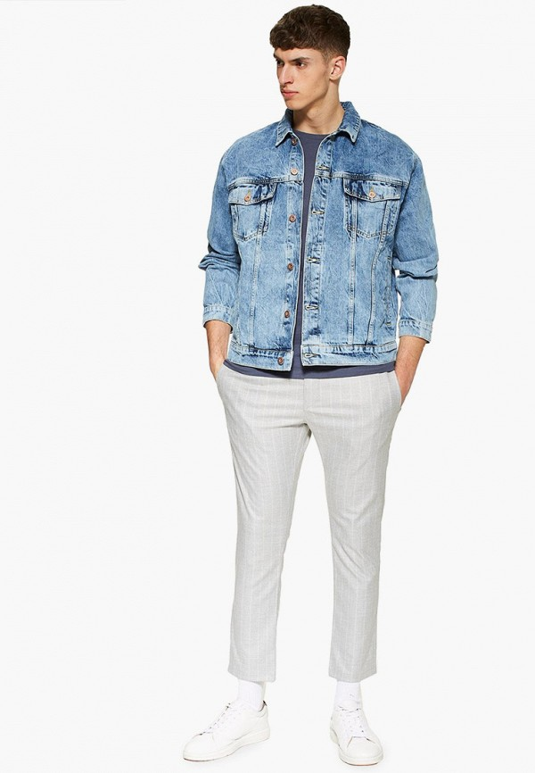 Фото 2 - мужские брюки Topman белого цвета