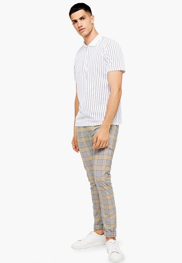Фото 2 - мужские брюки Topman бежевого цвета