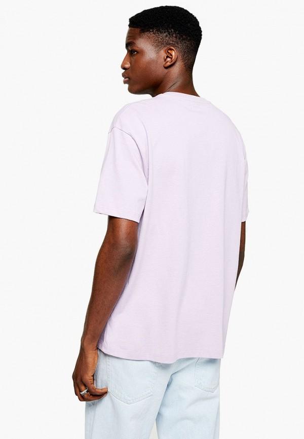 Фото 2 - мужскую футболку Topman фиолетового цвета