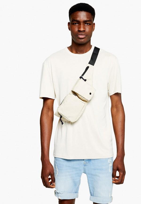 мужская футболка с коротким рукавом topman, белая