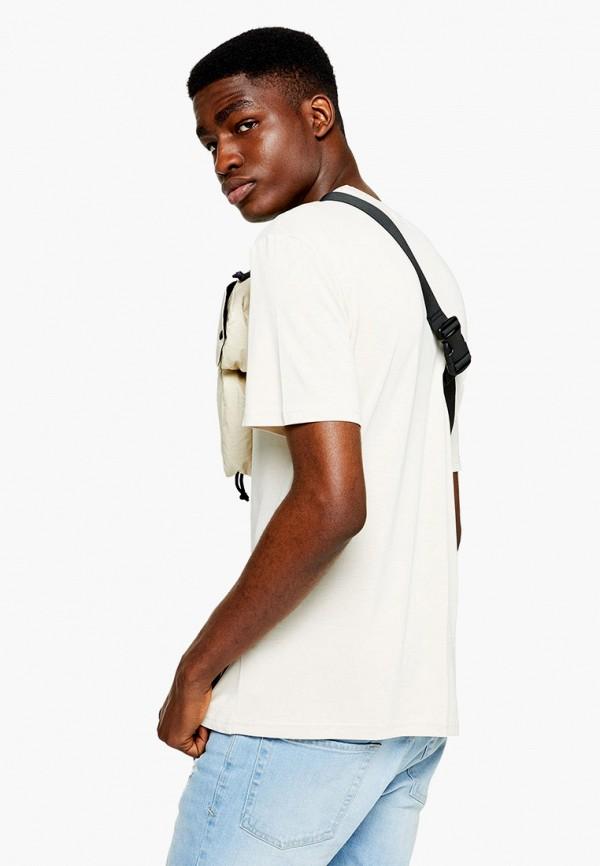 Фото 2 - мужскую футболку Topman белого цвета