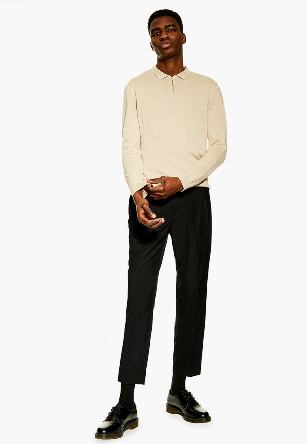Фото 2 - мужские брюки Topman черного цвета