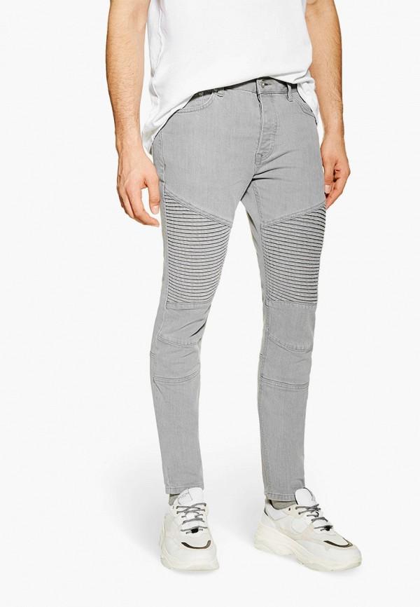 мужские зауженные джинсы topman, серые