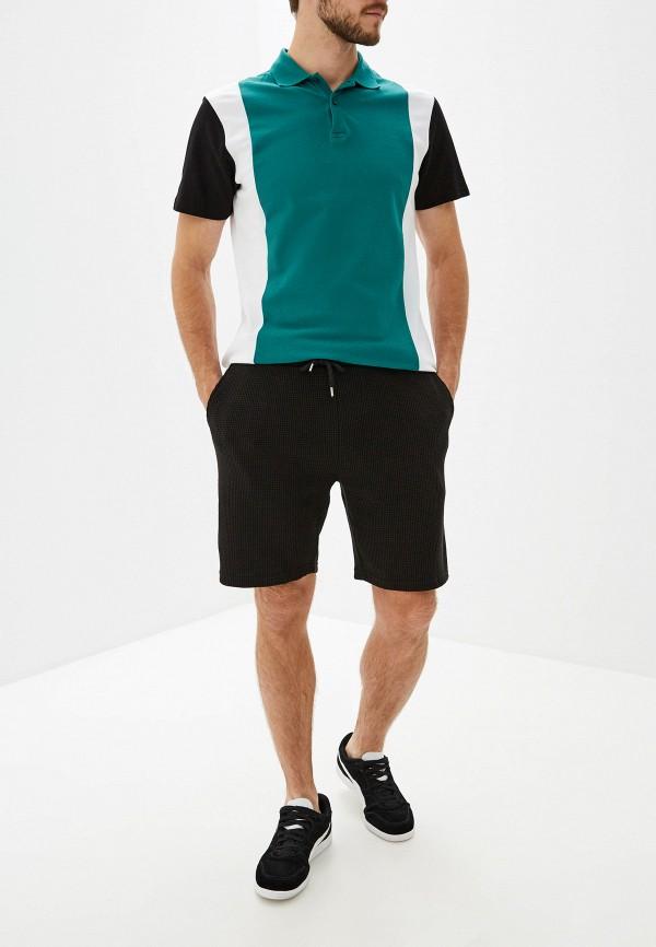 Фото 2 - Мужские шорты Topman черного цвета