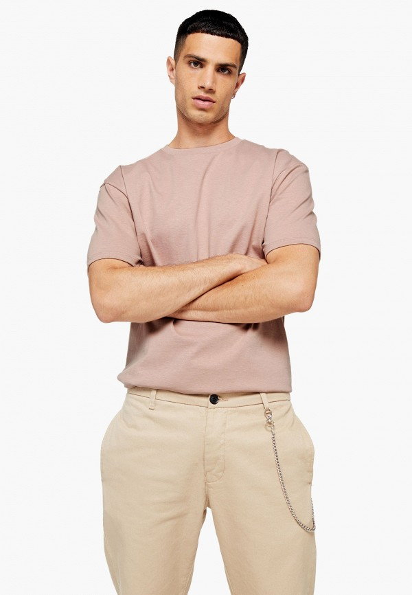 Фото - Мужскую футболку Topman розового цвета