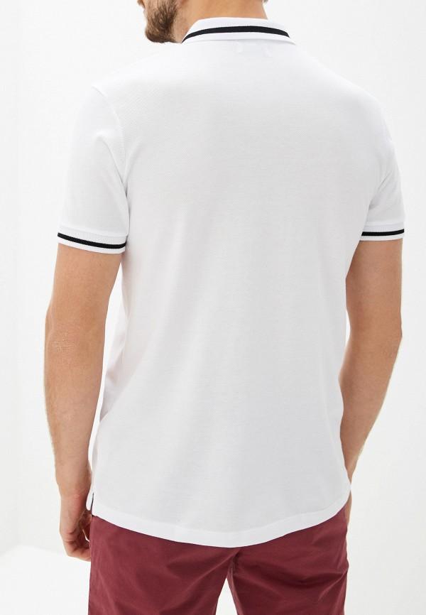 Фото 3 - Мужское поло Topman белого цвета