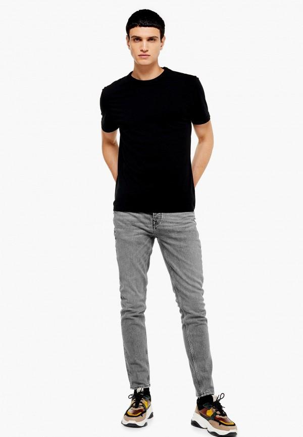 Фото 2 - Мужские джинсы Topman серого цвета