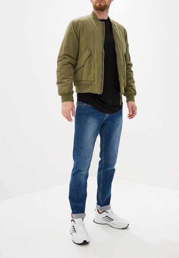 Фото 2 - Мужскую футболку Topman черного цвета