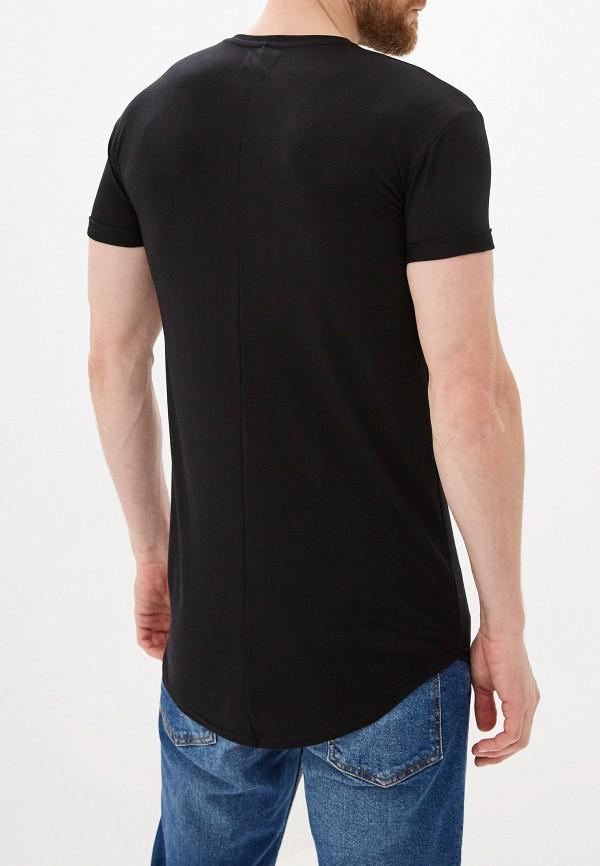 Фото 3 - Мужскую футболку Topman черного цвета