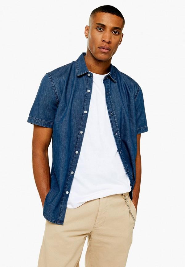 мужская джинсовые рубашка topman, синяя