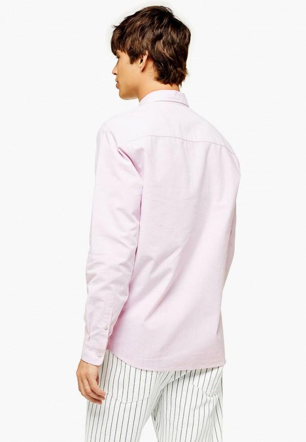 Фото 2 - Мужскую рубашку Topman розового цвета