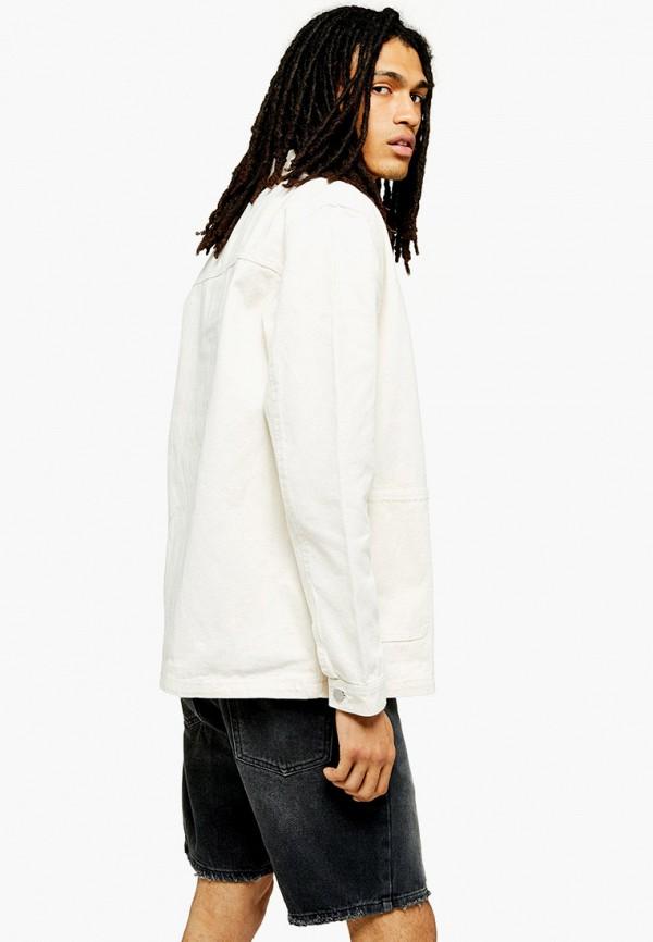 мужская джинсовые куртка topman, белая